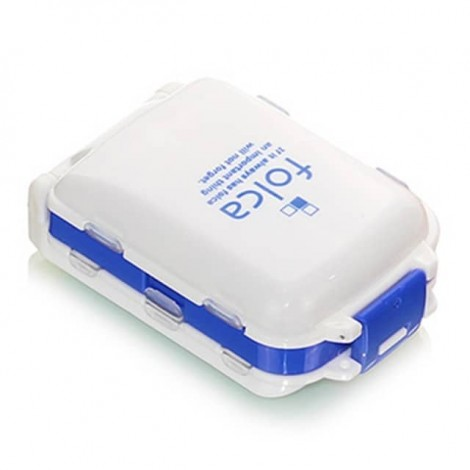 Folca 日本三层折叠一周便携药盒 蓝色