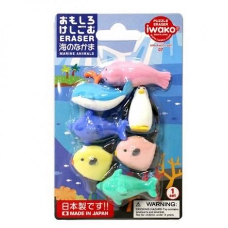 IWAKO 日本海洋动物橡皮擦