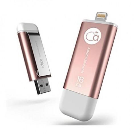Iklips爱酷盘 玫瑰金 iphone/ipad专用USB3.0 16GB