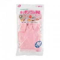 日本 纯天然材质 塑胶手套 M号 粉色
