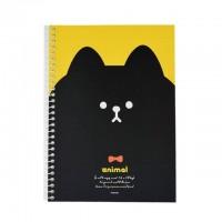 PINKFOOT 韩国黑脸猫带环笔记本 1本