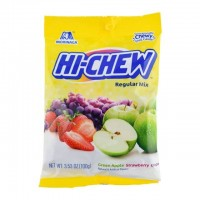 HI-CHEW 葡萄 草莓 苹果 三味夹心奶糖 100g