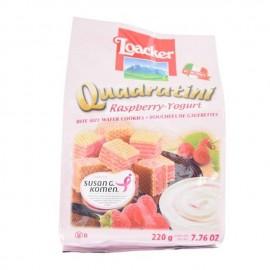 莱家 Loacker 树莓酸奶味威化饼干 220g