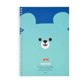 PINKFOOT 韩国蓝脸熊带环笔记本 1本