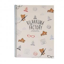 RILAKKUMA 松弛熊工厂带环笔记本 时尚款-4 1本