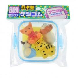 IWAKO 日本动物橡皮擦 蓝盒