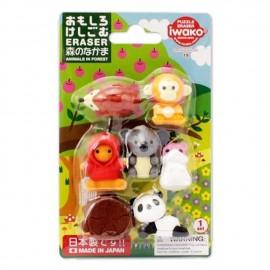 IWAKO 日本森林动物橡皮擦