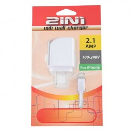 2IN1 iphone 手机USB插壁式充电器 白色