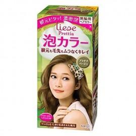 花王KAO LIESE PRETTIA泡沫染发剂 铂金米色 3.7FL.OZ