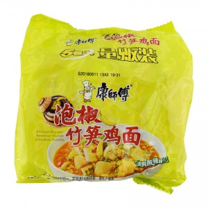 康师傅 泡椒竹笋鸡面 5包入