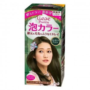 花王LIESE PRETTIA 泡沫染发膏 气质亚麻棕色 3.7 FL.OZ
