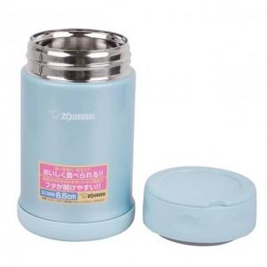 象印 ZOJIRUSHI 日本不锈钢真空焖烧杯 浅蓝色 0.5L