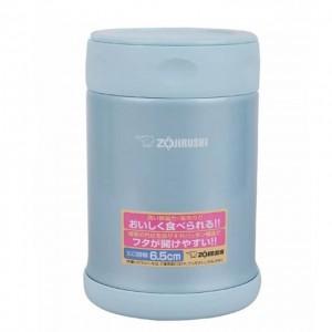 象印 ZOJIRUSHI 日本不锈钢真空焖烧杯 浅蓝色 0.35L