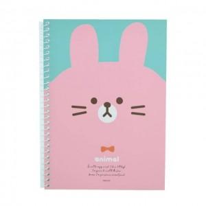 PINKFOOT 韩国粉脸兔带环笔记本 1本