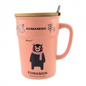 梦宝丽 可爱黑熊杯 橘色 350mL