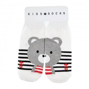 KISS SOCKS 韩国可爱熊短袜 1双 24cm