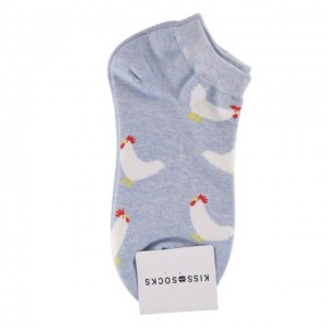 KISS SOCKS 韩国公鸡短袜 蓝色 1双 24cm