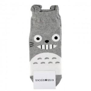 KISS SOCKS 韩国龙猫短袜 灰色 1双 24cm