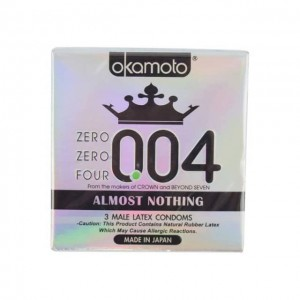 冈本 OKAMOTO 004超薄安全避孕套 3枚入