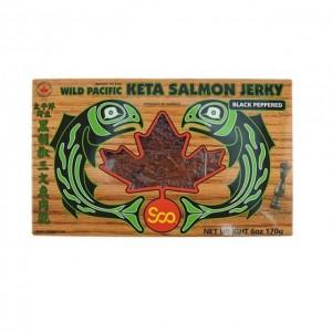 狮牌 太平洋 野生 黑胡椒 三文鱼 肉干 170g