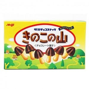 明治 蘑菇帽巧克力饼干 74g