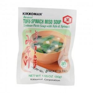 万字KIKKOMAN 即食豆腐菠菜味增汤 3袋入 30g
