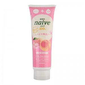 【重拍】肌美精Kracie naive100%植物性蜜桃洗颜料 190g